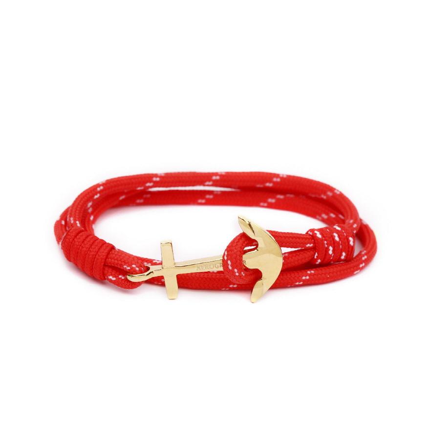 Anchor Bracelet - Christmas Red