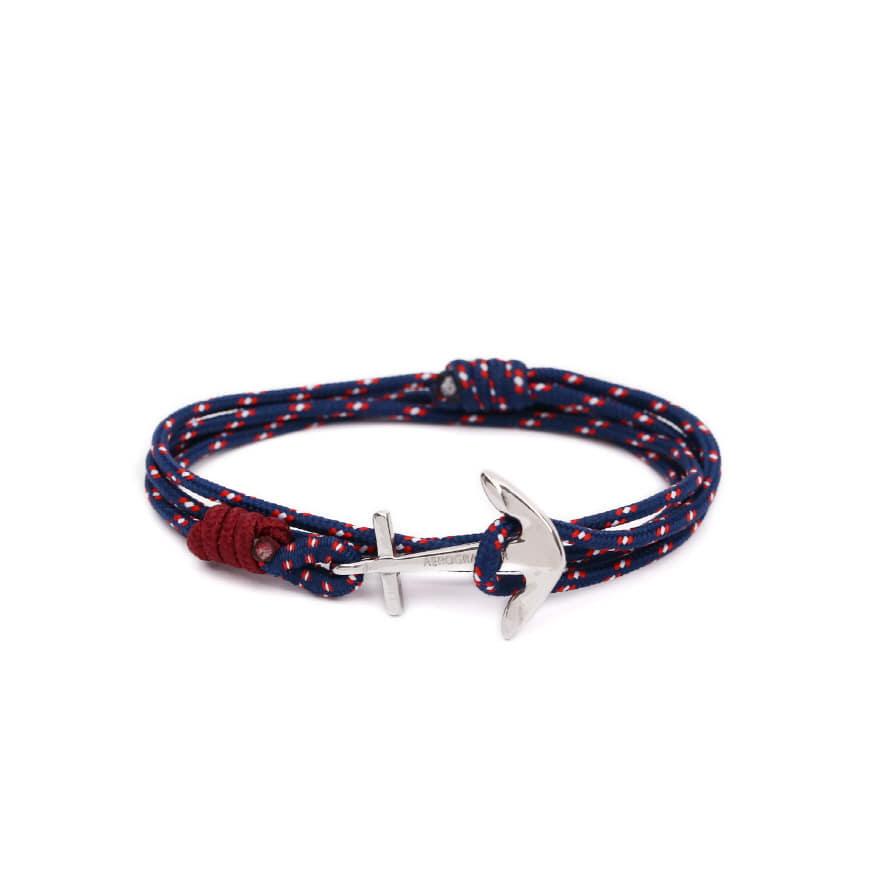 Mini Anchor Bracelet & Necklace - Surf Navy