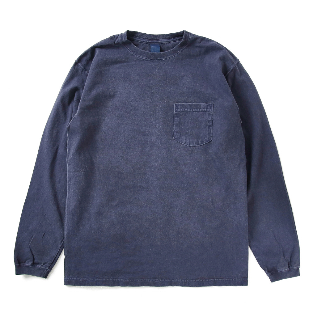 [재입고] Pocket Long T-Shirts - P-Navy