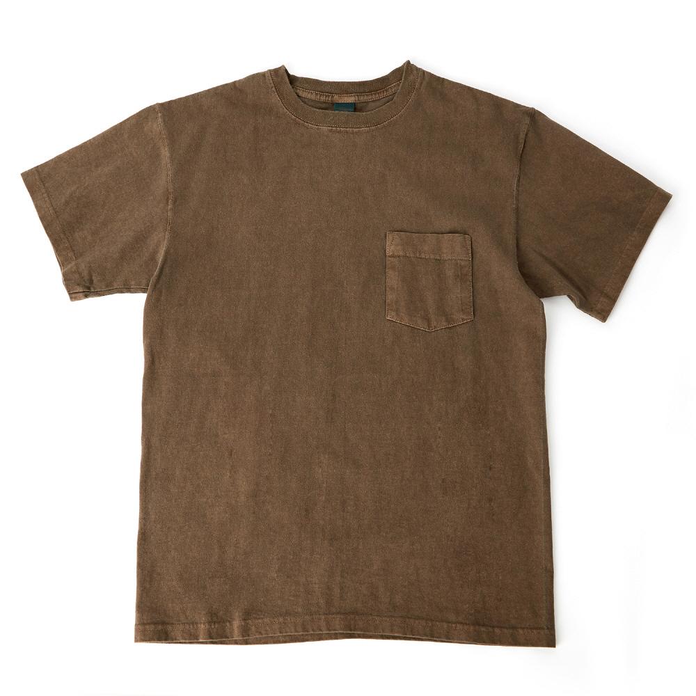 굿온 5.5oz 포켓 반팔 티셔츠 - 피그먼트 브라운