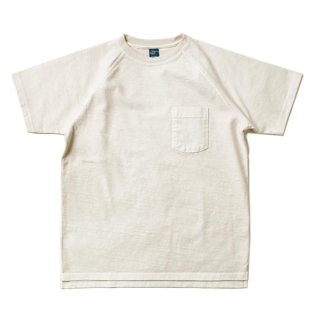 Raglan Heavy Pocket T-Shirts - P-Natural