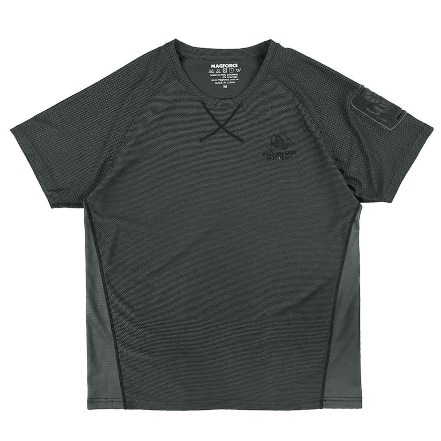 패치워크 티셔츠 - 스모키 그레이