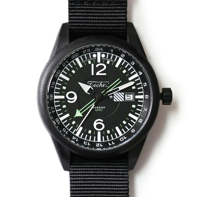 해리어 368 카본 GMT - 나토 스트랩 블랙 PVD