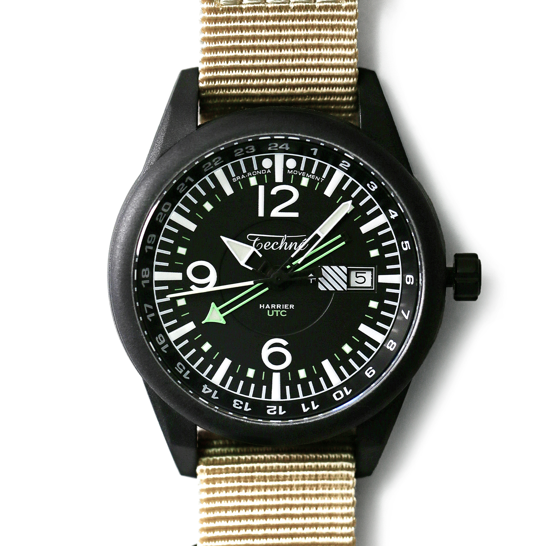 해리어 368 카본 GMT - 나토 스트랩 샌드 PVD