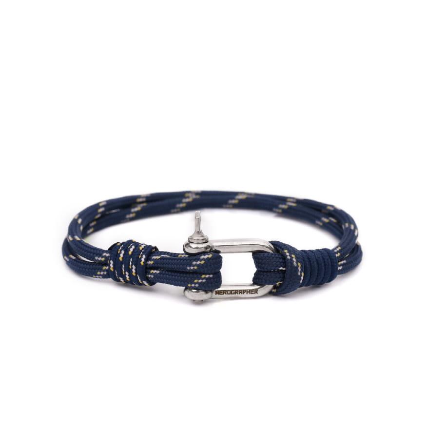 D Shackle Bracelet - Peach Navy