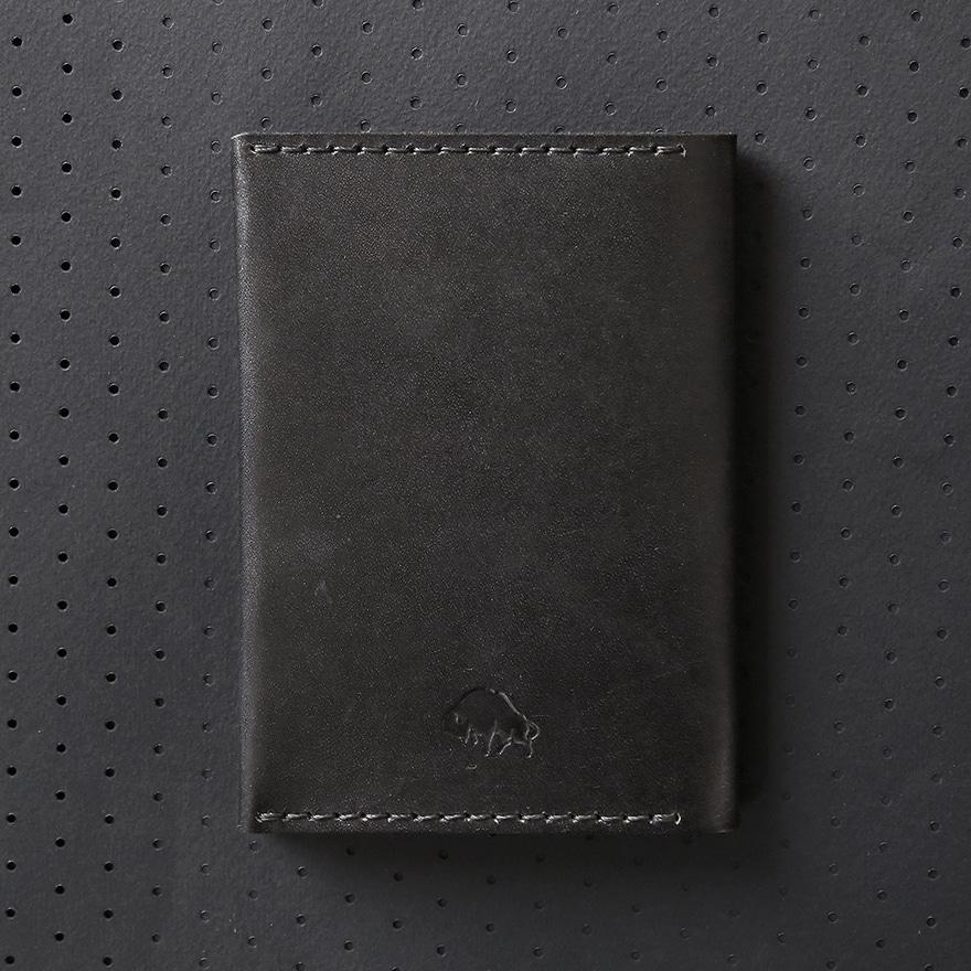 No.5 Passport Wallet - Jet Black