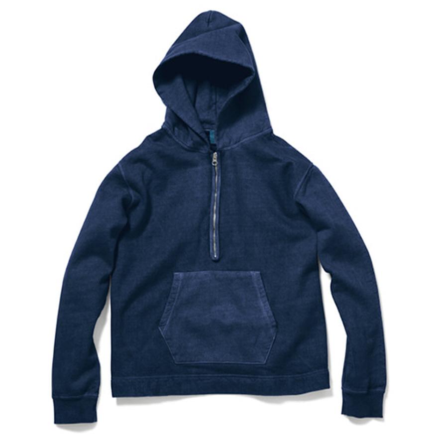 굿온 Rough 1/2 Zip Po Hood Sweat - P-Navy