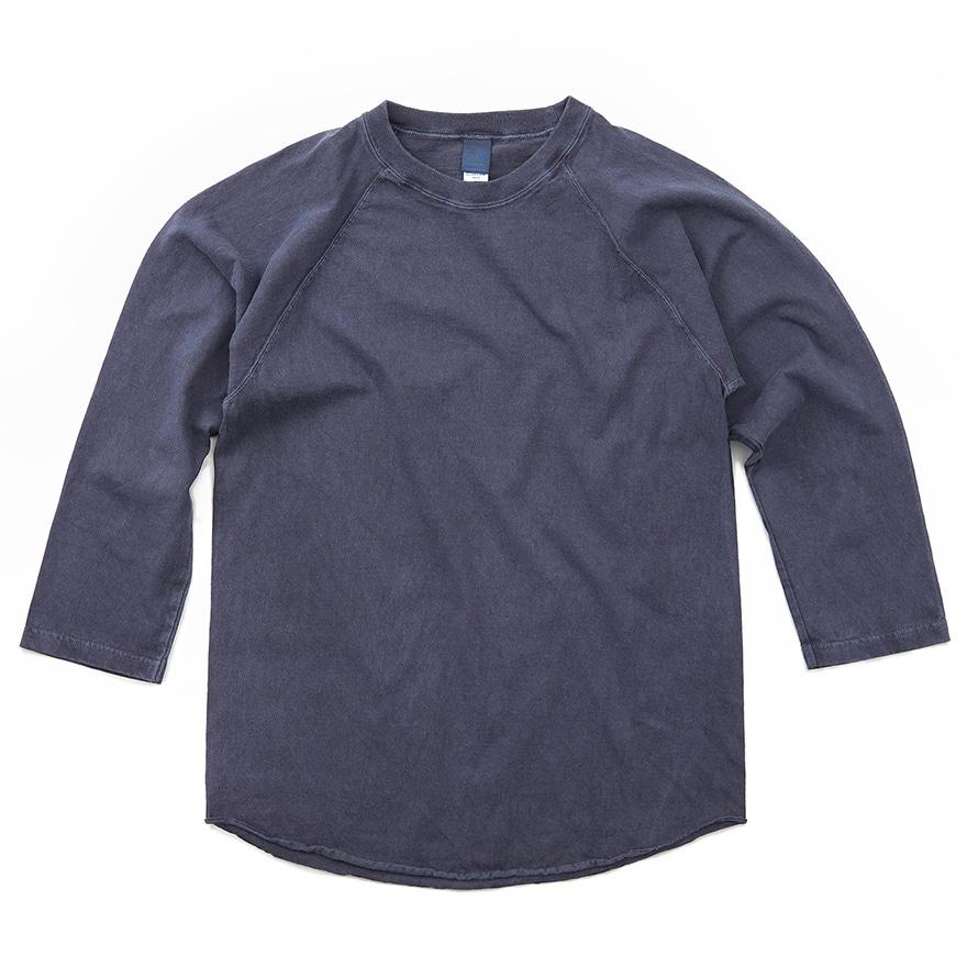 베이스볼 9부 티셔츠 - 피그먼트 네이비