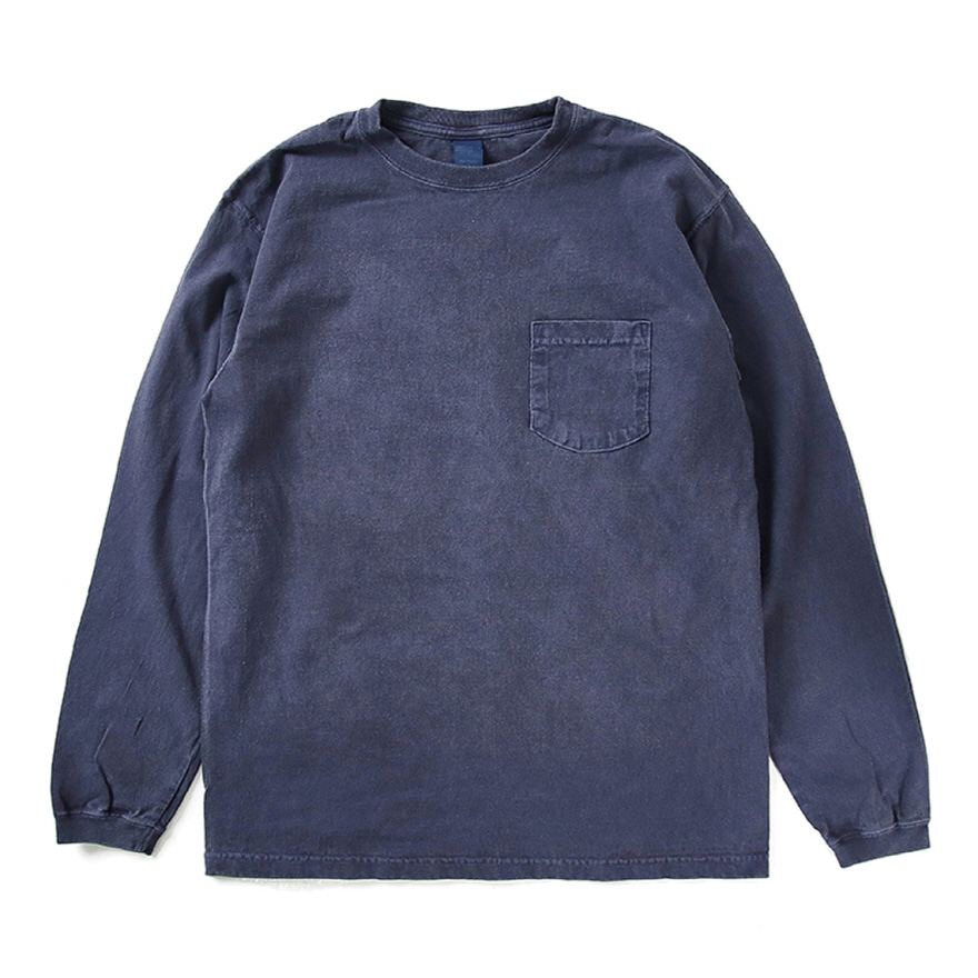 Pocket Long T-Shirts - P-Navy
