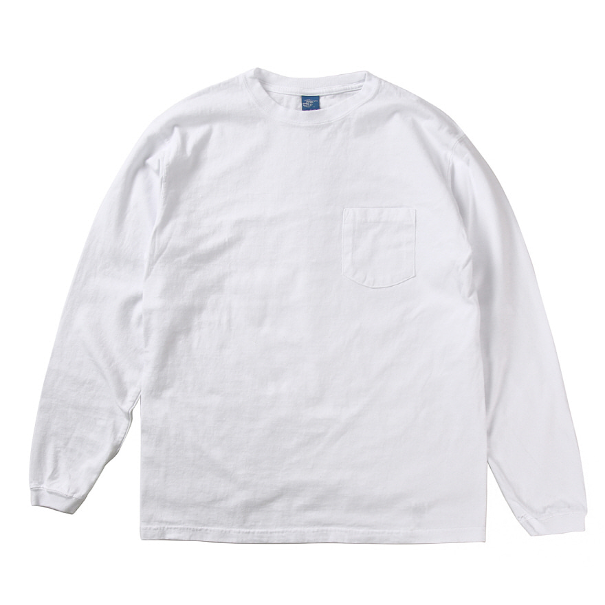 Pocket Long T-Shirts - White