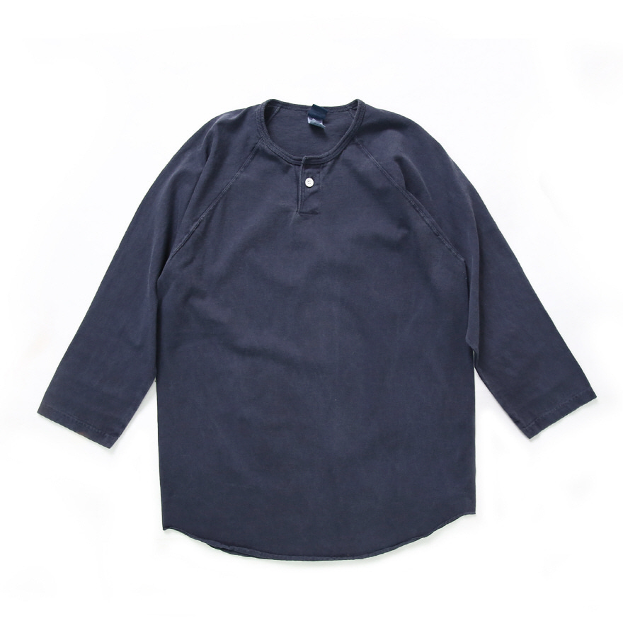 One Button Baseball T-Shirts - P-Navy