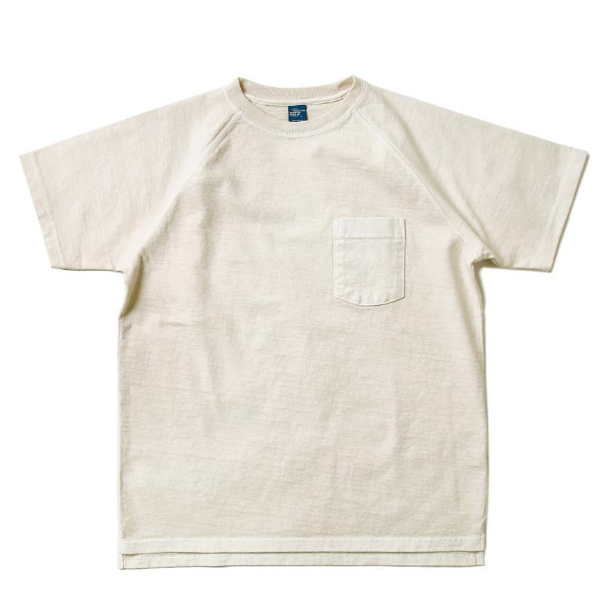 9oz 헤비코튼 포켓 반팔 티셔츠 - 피그먼트 네츄럴