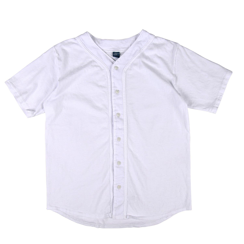 베이스볼 반팔 셔츠 - 화이트