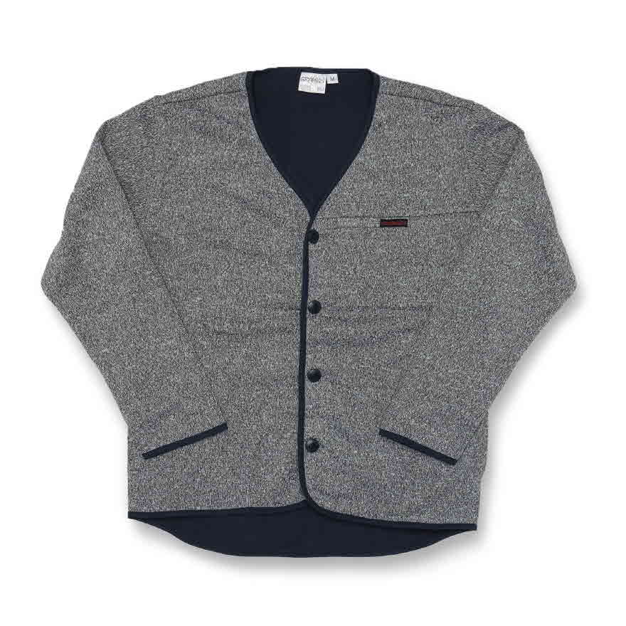 Bonding Knit Cardigan - Grey/Navy