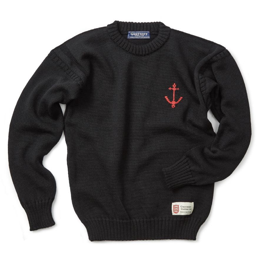 건지 크루넥 스웨터 - Black