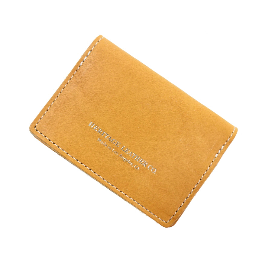 Pocket Card Case - Yellow