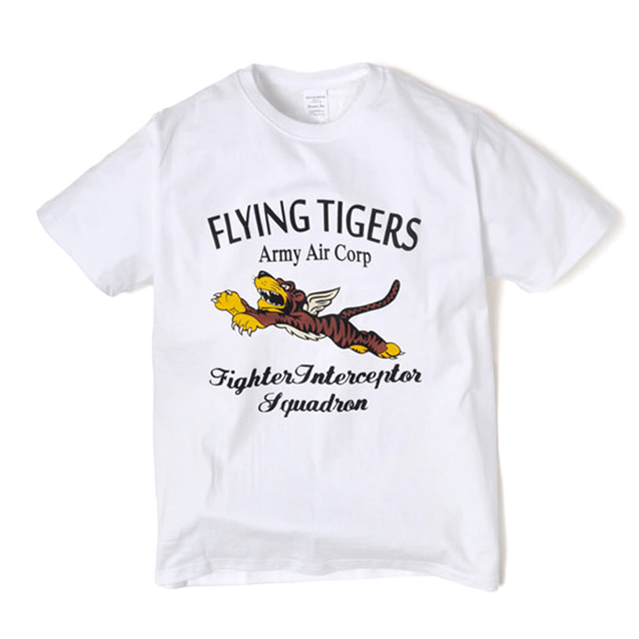 Military Tee - Flying Tiger - White