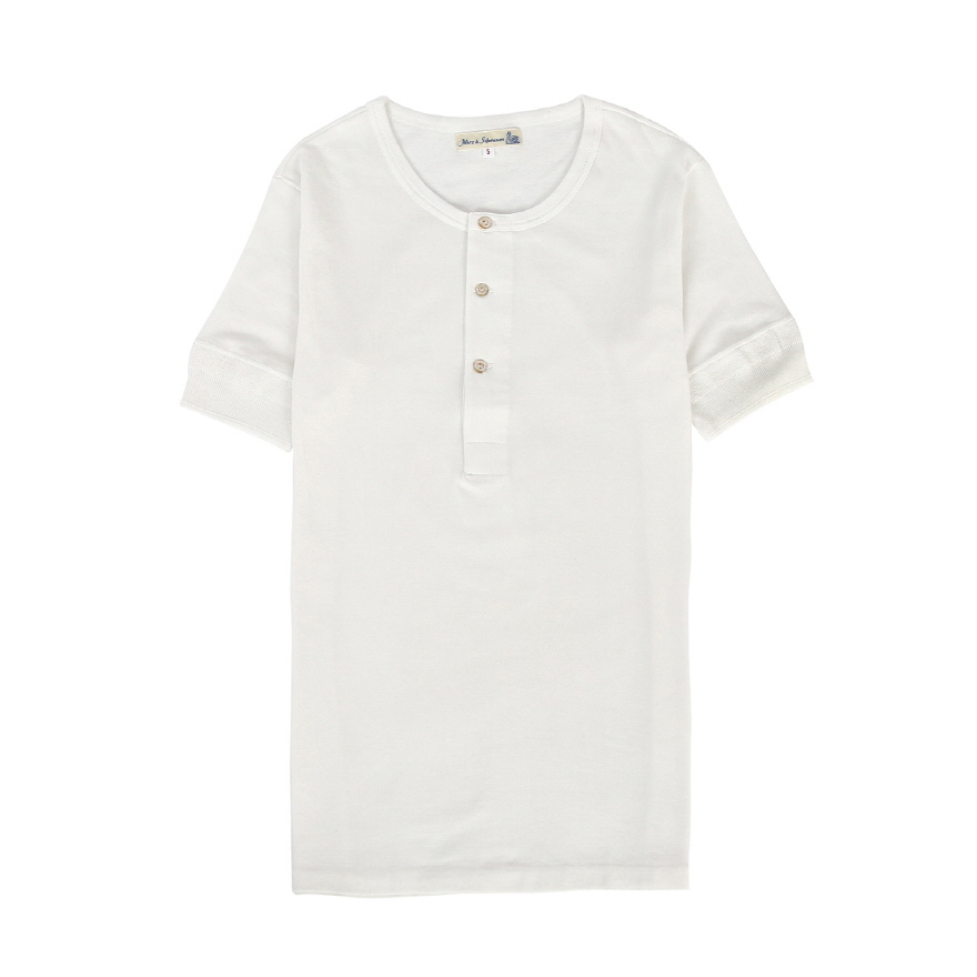 207 Henley Neck - White