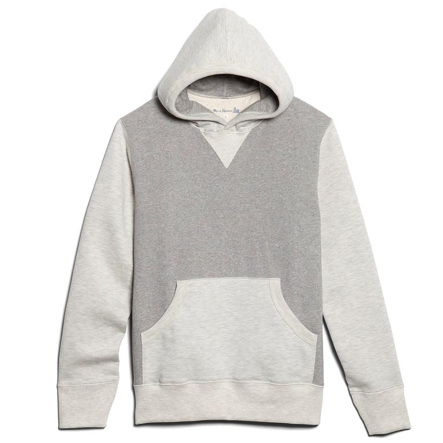 [진열상품] 3S82 Hooded Sweat Shirts - Grey Mel/Nature Mel