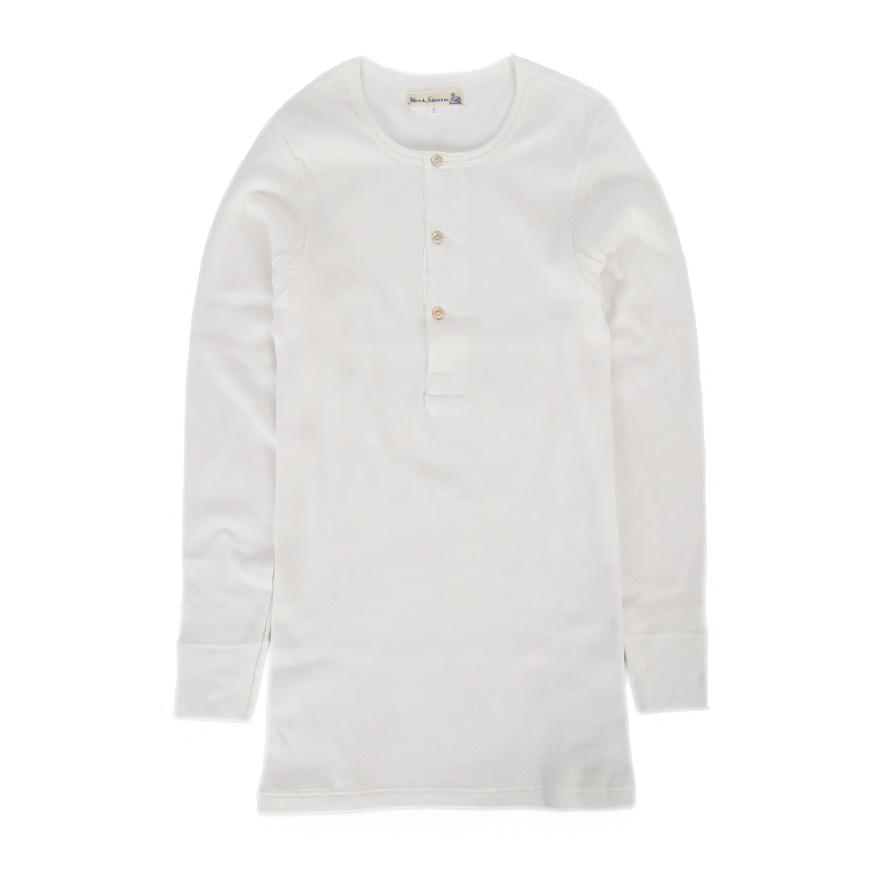 [진열상품] 506 Henley Neck Long Sleeve - White