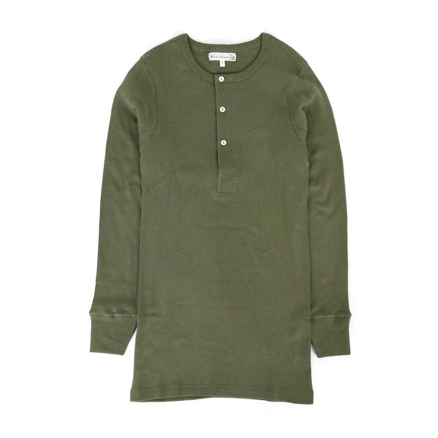 [진열상품] 506 Henley Neck Long Sleeve - Army
