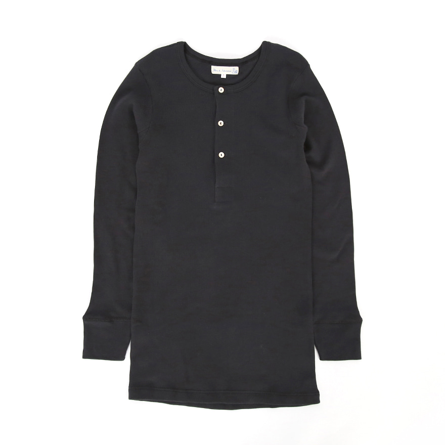 [진열상품] 506 Henley Neck Long Sleeve - Charcoal