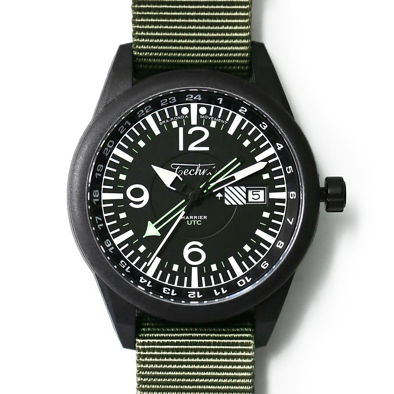 해리어 368 카본 GMT - 나토 스트랩 올리브 PVD