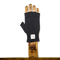 Fingerless Ragg Wool Glove - Navy