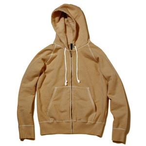 Raglan Zip Hood Sweat - P-Mocha