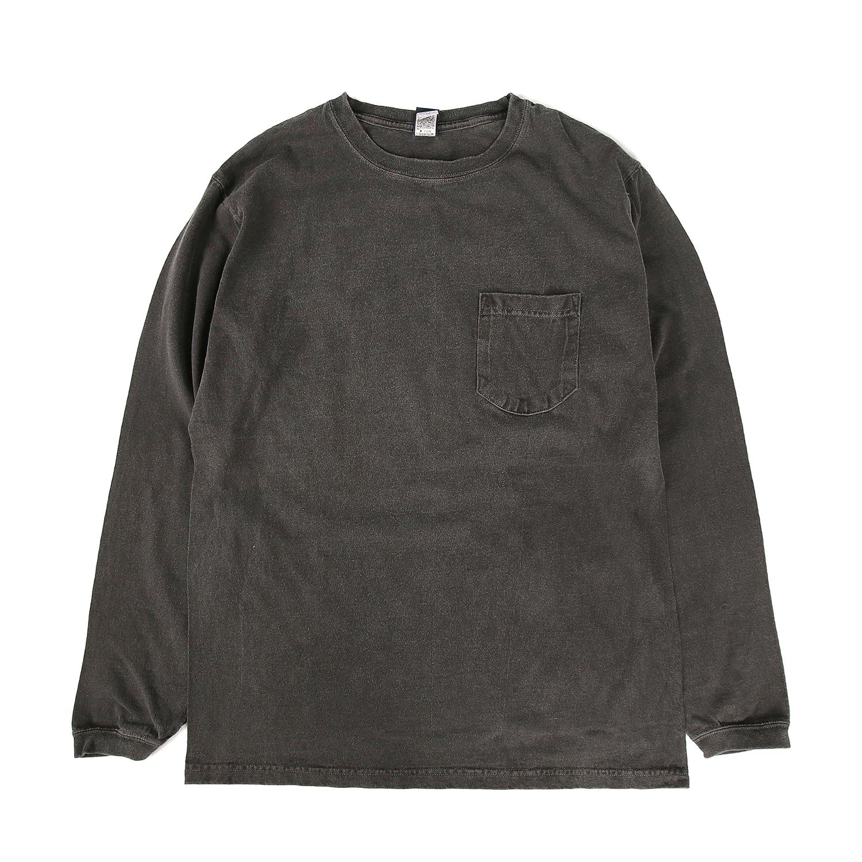 5.5oz 포켓 긴팔 티셔츠 - 피그먼트 블랙