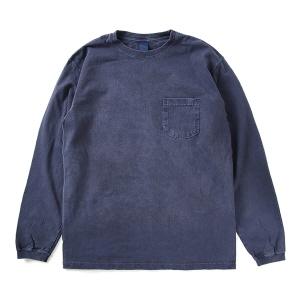 5.5oz 포켓 긴팔 티셔츠 - 피그먼트 네이비
