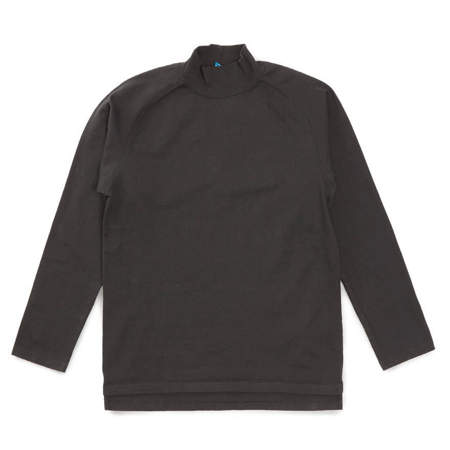 HVY Cotton Long Mock Neck - Black