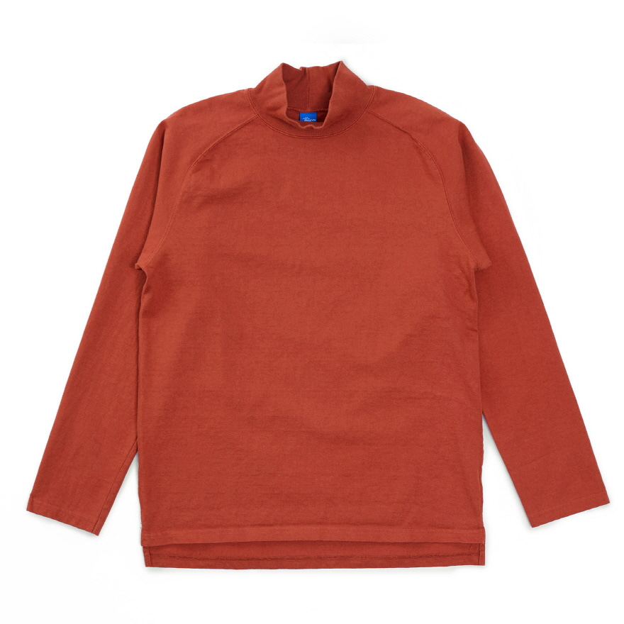 9oz 헤비코튼 모크넥 티셔츠 - 오렌지