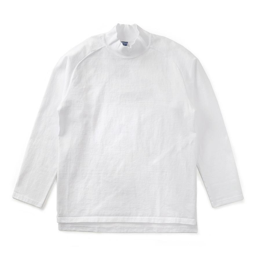 HVY Cotton Long Mock Neck - White