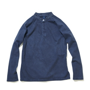 Stand Collar Rugby Long Jersey - P-Navy