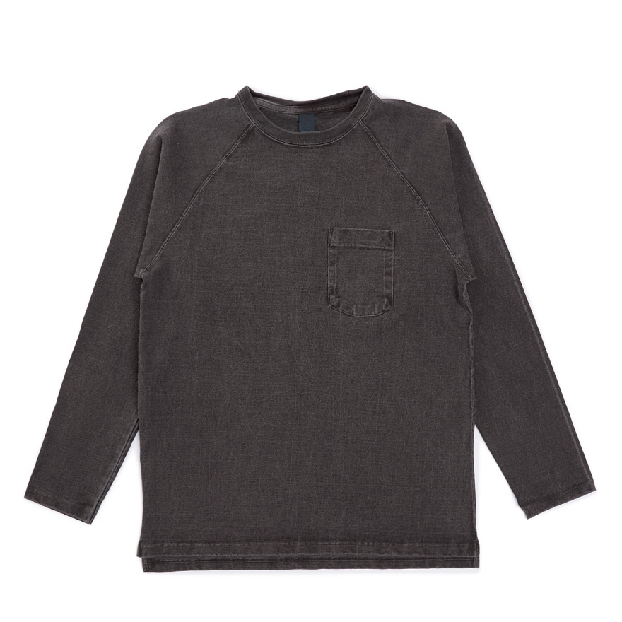 HVY Cotton Long Pocket T-Shirts - P-Black