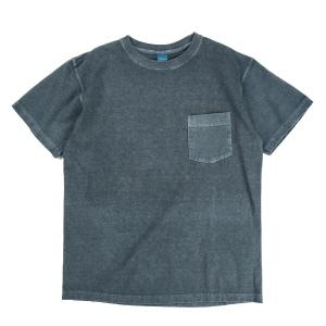 Crew Neck Pocket T-shirts - P-Slate