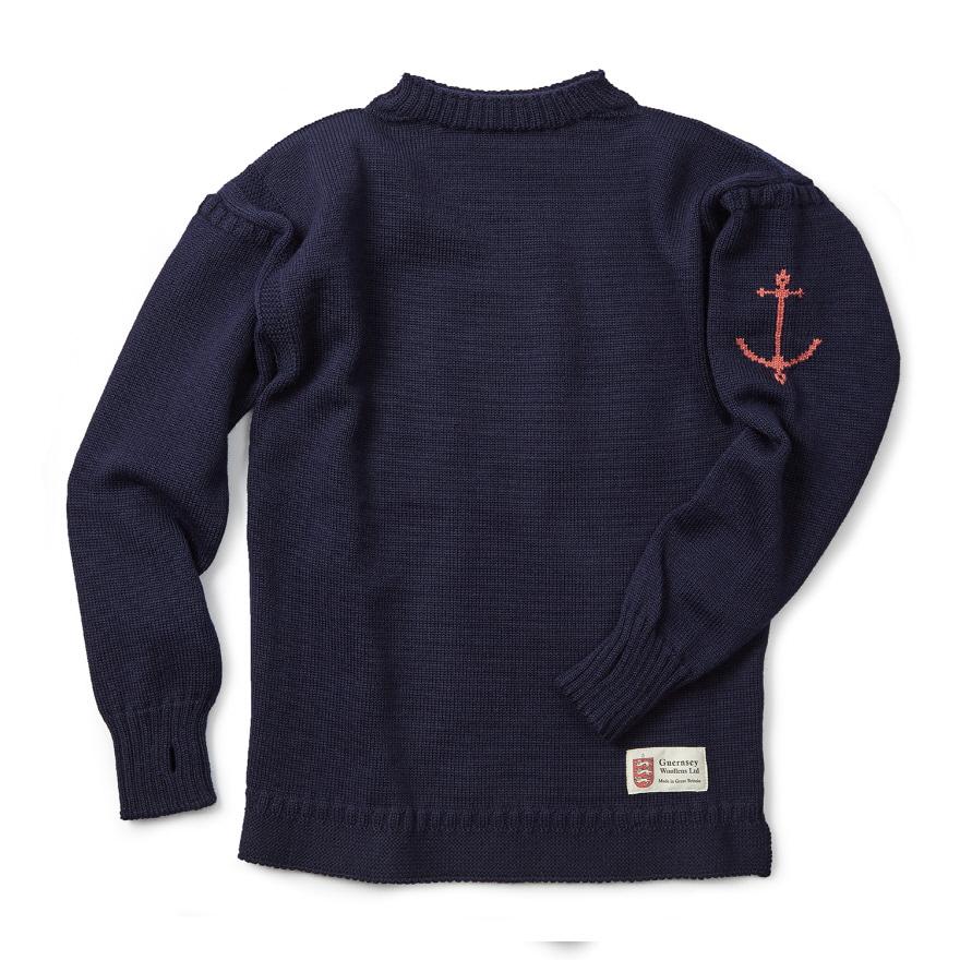 건지 트래디셔널 스웨터 - Navy