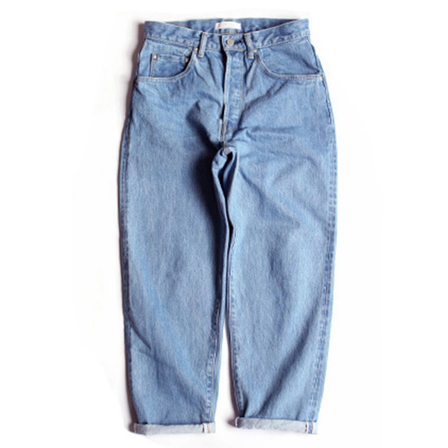 Loose Tapered Denim - Ice Blue