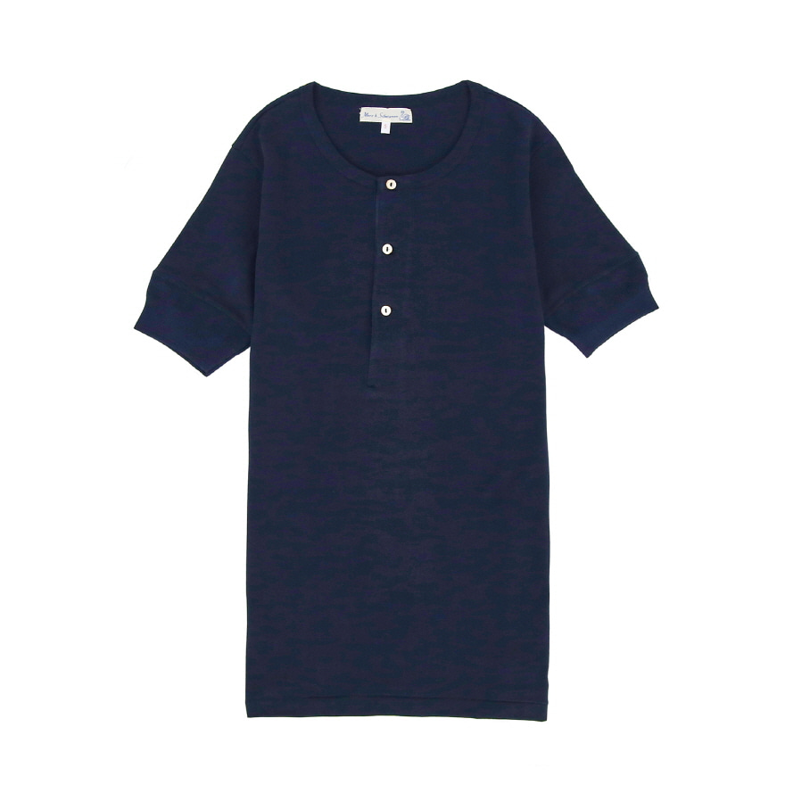 207 Henley Neck - Ink Blue