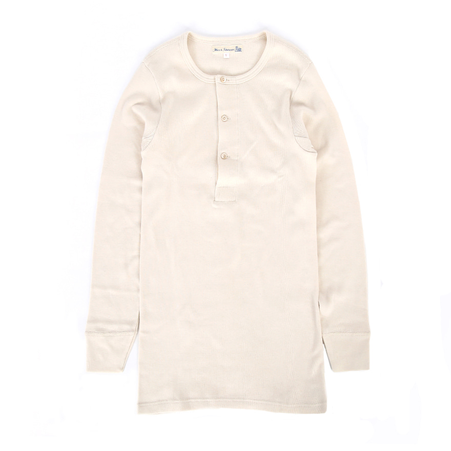 506 Henley Neck Long Sleeve - Nature