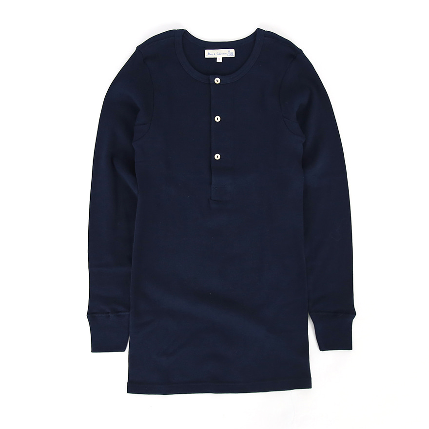 506 Henley Neck Long Sleeve - Ink Blue