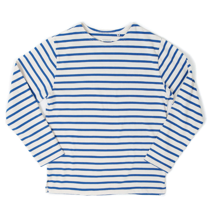 Boat Neck Long Sleeve - Ivory/Blue