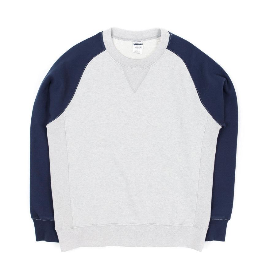 Raglan Sweat Shirt - Melangegray/Navy