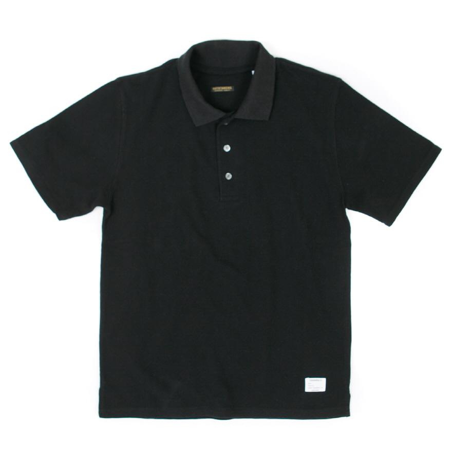 Standard Collar Pique - Black
