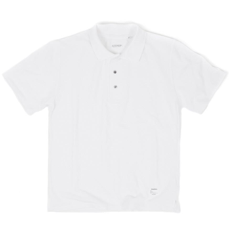 Standard Collar Pique - White
