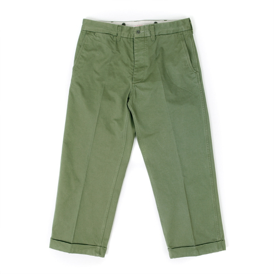 Suspender Chino Trousers - Olive Green