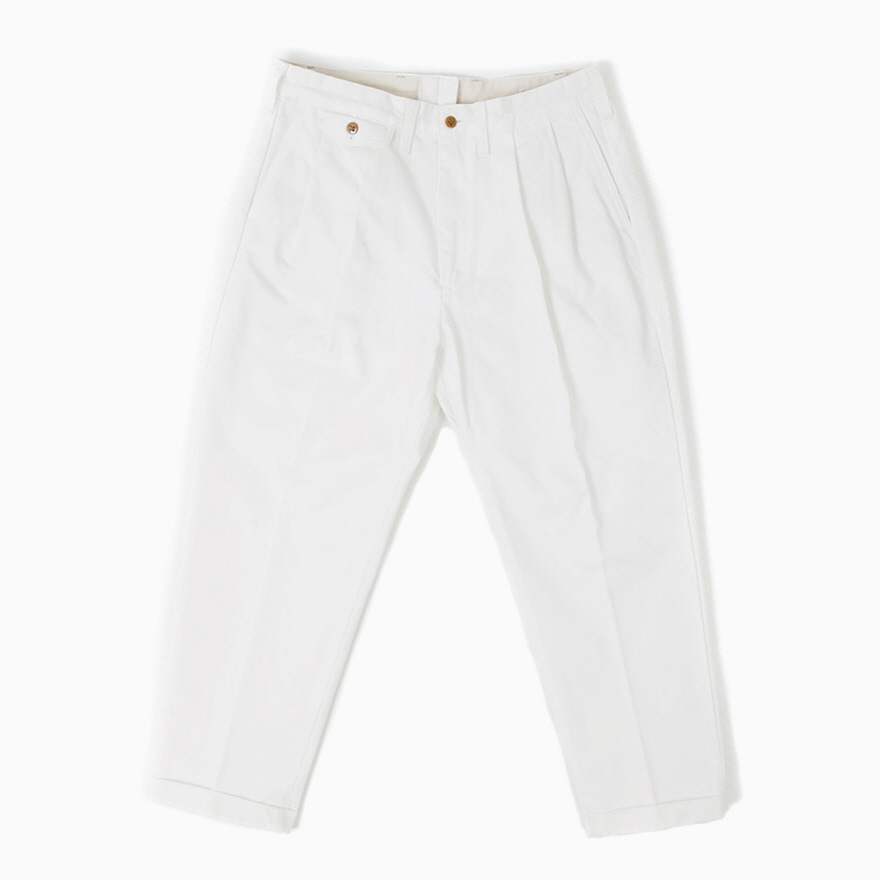 Tapered Chino Trousers - Off White