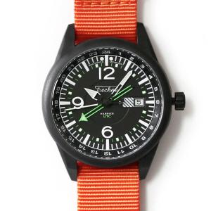 해리어 368 카본 GMT - 나토 스트랩 오렌지 PVD